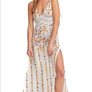Free People Claire Printed Maxi Slip Boho Floral